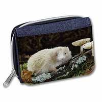 Albino Hedgehog Wildlife Girls/Ladies Denim Purse Wallet Birthday Gift Idea