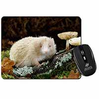 Albino Hedgehog Wildlife Computer Mouse Mat Birthday Gift Idea