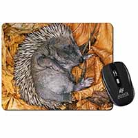 Sleeping Baby Hedgehog Computer Mouse Mat Birthday Gift Idea