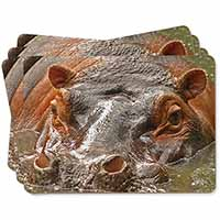 Hippopotamus, Hippo Picture Placemats in Gift Box