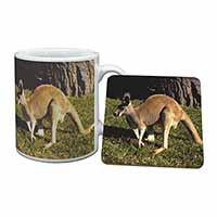 Kangaroo Mug+Coaster Birthday Gift Idea