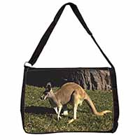 Kangaroo Large Black Laptop Shoulder Bag School/College