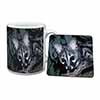 Wild Genet Cat Wildlife Print Mug+Coaster Christmas/Birthday Gift Idea