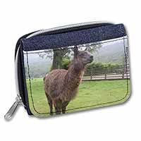 Llama Girls/Ladies Denim Purse Wallet Birthday Gift Idea