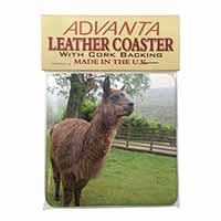 Llama Single Leather Photo Coaster Perfect Gift