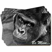 Be Mine! Gorilla Picture Placemats in Gift Box