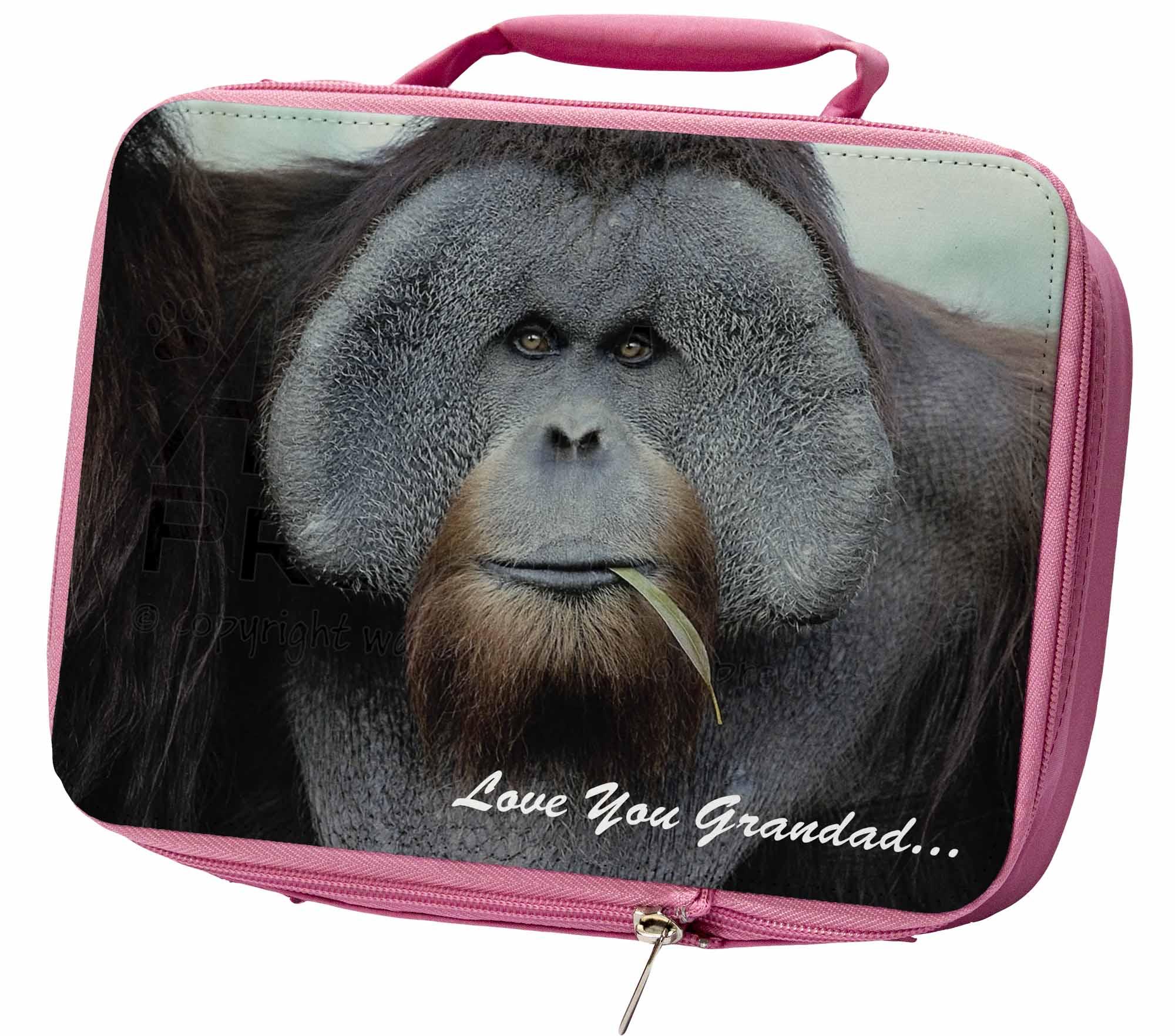 Orangutan-039-Love-You-Abuelo-039-aislante-ROSA-Almuerzo-Escolar-Caja-Bolsa-am-2lgdlbp