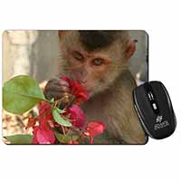 Monkey with Flowers Computer Mouse Mat Christmas Gift Idea