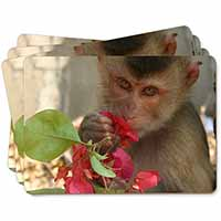 Monkey with Flowers Picture Placemats in Gift Box