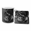 Handsome Silverback Gorilla Mug+Coaster Christmas/Birthday Gift Idea