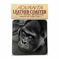 Handsome Silverback Gorilla Single Leather Photo Coaster Perfect Gift