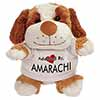 Adopted By AMARACHI Cuddly Dog Teddy Bear Wearing a Printed Named T-Shirt