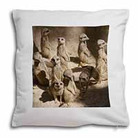 Meerkats Soft Velvet Feel Cushion Cover With Pillow Inner