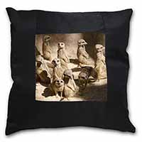 Meerkats Black Border Satin Feel Cushion Cover+Pillow Insert