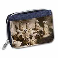 Meerkats Girls/Ladies Denim Purse Wallet Birthday Gift Idea