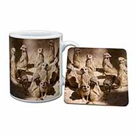 Meerkats Mug+Coaster Birthday Gift Idea
