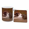Cat and Mouse Mug+Coaster Christmas/Birthday Gift Idea