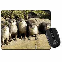 Cute Otters Computer Mouse Mat Birthday Gift Idea