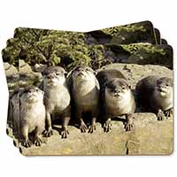 Cute Otters Picture Placemats in Gift Box