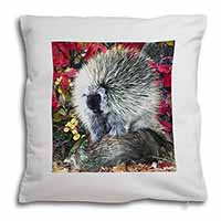 Porcupine Wildlife Print Soft Velvet Feel Cushion Cover With Pillow Inner
