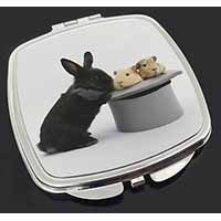 Rabbit and Guinea Pigs in Top Hat Make-Up Compact Mirror Birthday Gift Idea