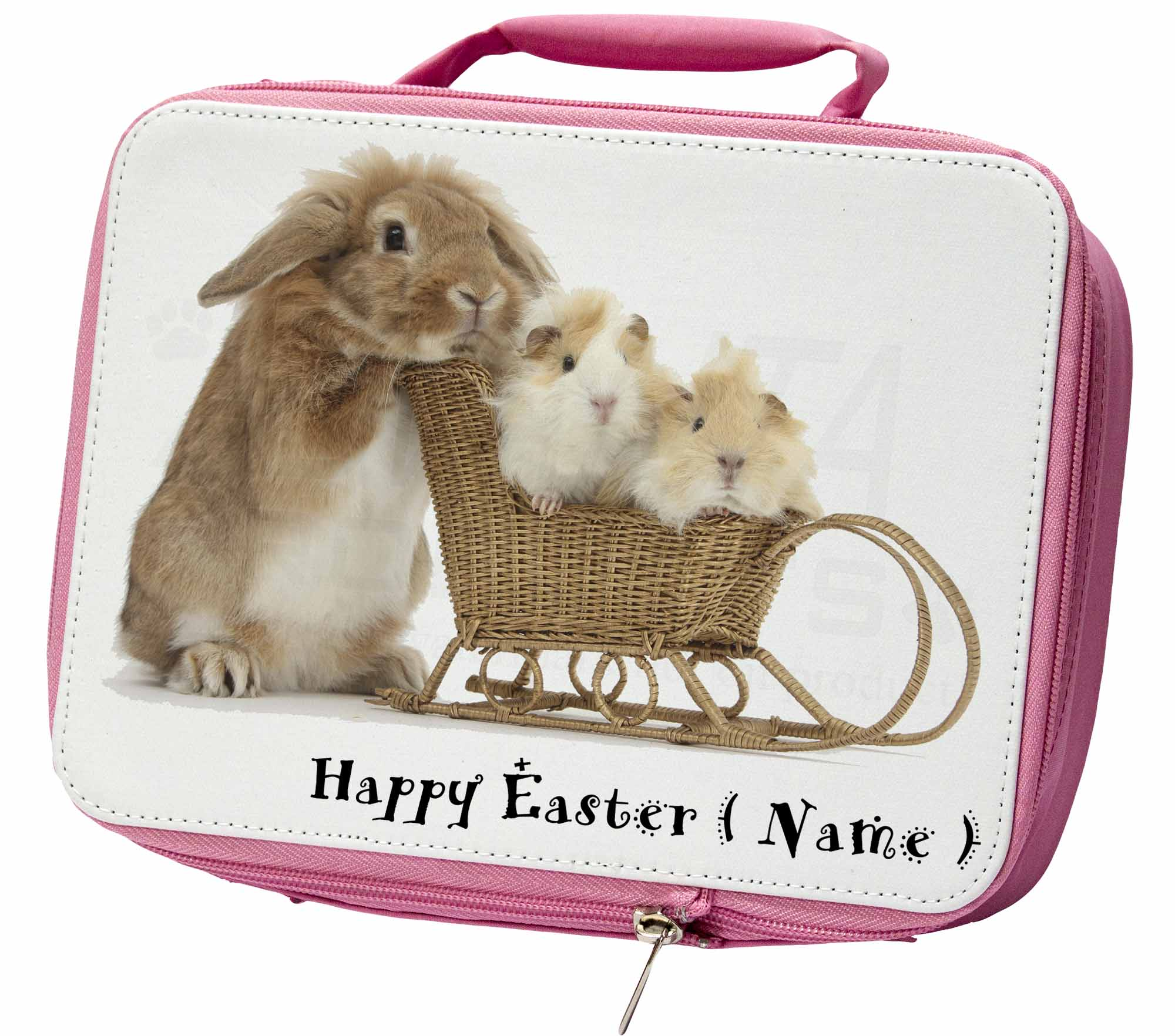 Personalizado-Conejo-Cerdos-aislante-ROSA-Almuerzo-Escolar-Caja
