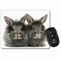Silver Rabbits Computer Mouse Mat Birthday Gift Idea