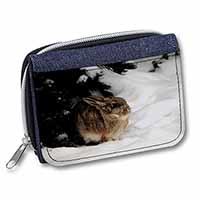 Rabbit in Snow Girls/Ladies Denim Purse Wallet Birthday Gift Idea