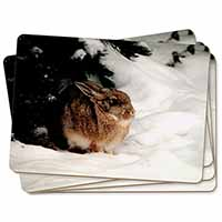Rabbit in Snow Picture Placemats in Gift Box