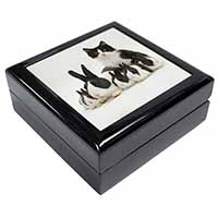 Belgian Dutch Rabbits and Kitten Keepsake/Jewellery Box Christmas Gift