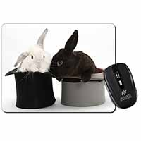 Rabbits in Top Hats Computer Mouse Mat Birthday Gift Idea