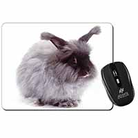 Silver Angora Rabbit Computer Mouse Mat Christmas Gift Idea