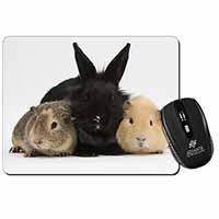 Rabbit and Guinea Pigs Print Computer Mouse Mat Birthday Gift Idea