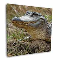"Crocodile Print 12""x12"" Wall Art Canvas Picture"