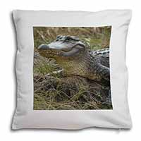 Crocodile Print Soft Velvet Feel Scatter Cushion