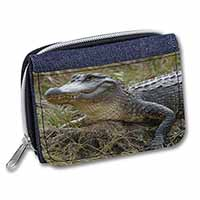 Crocodile Print Girls/Ladies Denim Purse Wallet Birthday Gift Idea