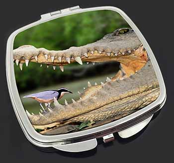 Nile Crocodile, Bird in Mouth Make-Up Compact Mirror Birthday Gift Idea