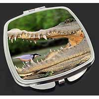 Nile Crocodile, Bird in Mouth Make-Up Compact Mirror Stocking Filler Gift