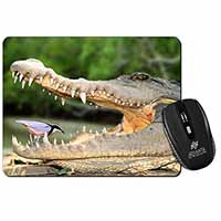 Nile Crocodile, Bird in Mouth Computer Mouse Mat Birthday Gift Idea