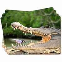 Nile Crocodile, Bird in Mouth Picture Placemats in Gift Box