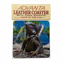 Lizard Single Leather Photo Coaster Perfect Gift