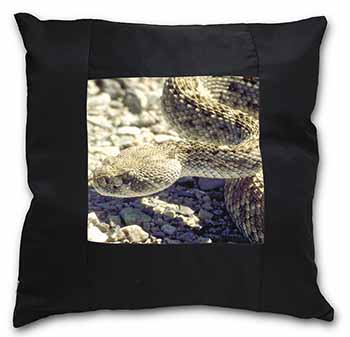 Rattle Snake Black Border Satin Feel Scatter Cushion