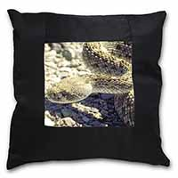 Rattle Snake Black Border Satin Feel Cushion Cover With Pillow Insert