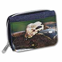 Boa Constrictor Snake Girls/Ladies Denim Purse Wallet Birthday Gift Idea