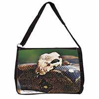 Boa Constrictor Snake Large Black Laptop Shoulder Bag School/College
