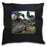 Galapagos Tortoise Black Border Satin Feel Scatter Cushion