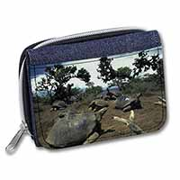 Galapagos Tortoise Girls/Ladies Denim Purse Wallet Birthday Gift Idea