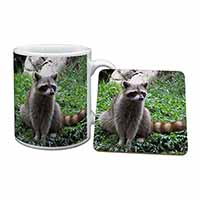 Racoon Lemur Mug+Coaster Christmas/Birthday Gift Idea