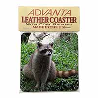 Racoon Lemur Single Leather Photo Coaster Animal Breed Gift