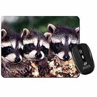 Cute Baby Racoons Computer Mouse Mat Birthday Gift Idea